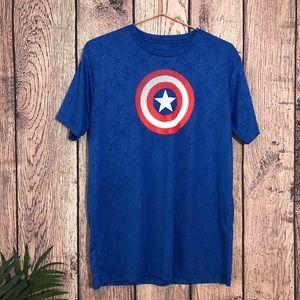 Marvel T Shirt L Blue Short Sleeve